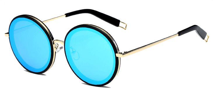Ochelari de soare Rotunzi Bleu - Auriu thumbnail