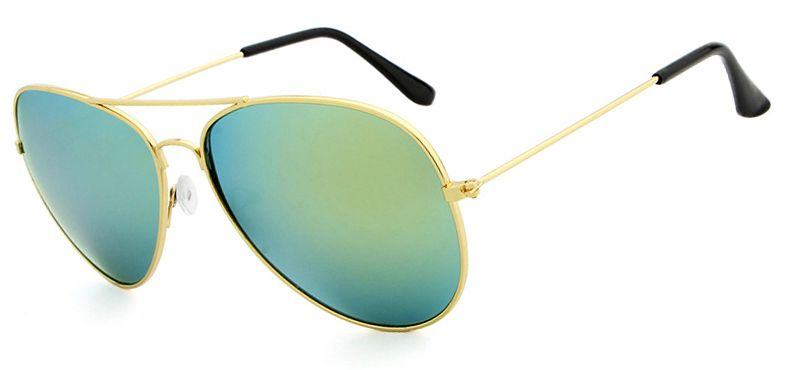 Ochelari de soare Aviator Verde cu reflexii - Auriu - Polarizati thumbnail
