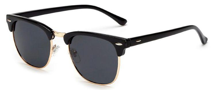 Ochelari de soare Retro Bleumarin - Auriu thumbnail