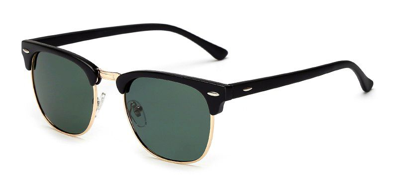 Ochelari de soare Retro Albastru inchis - Verde - Polarizati thumbnail