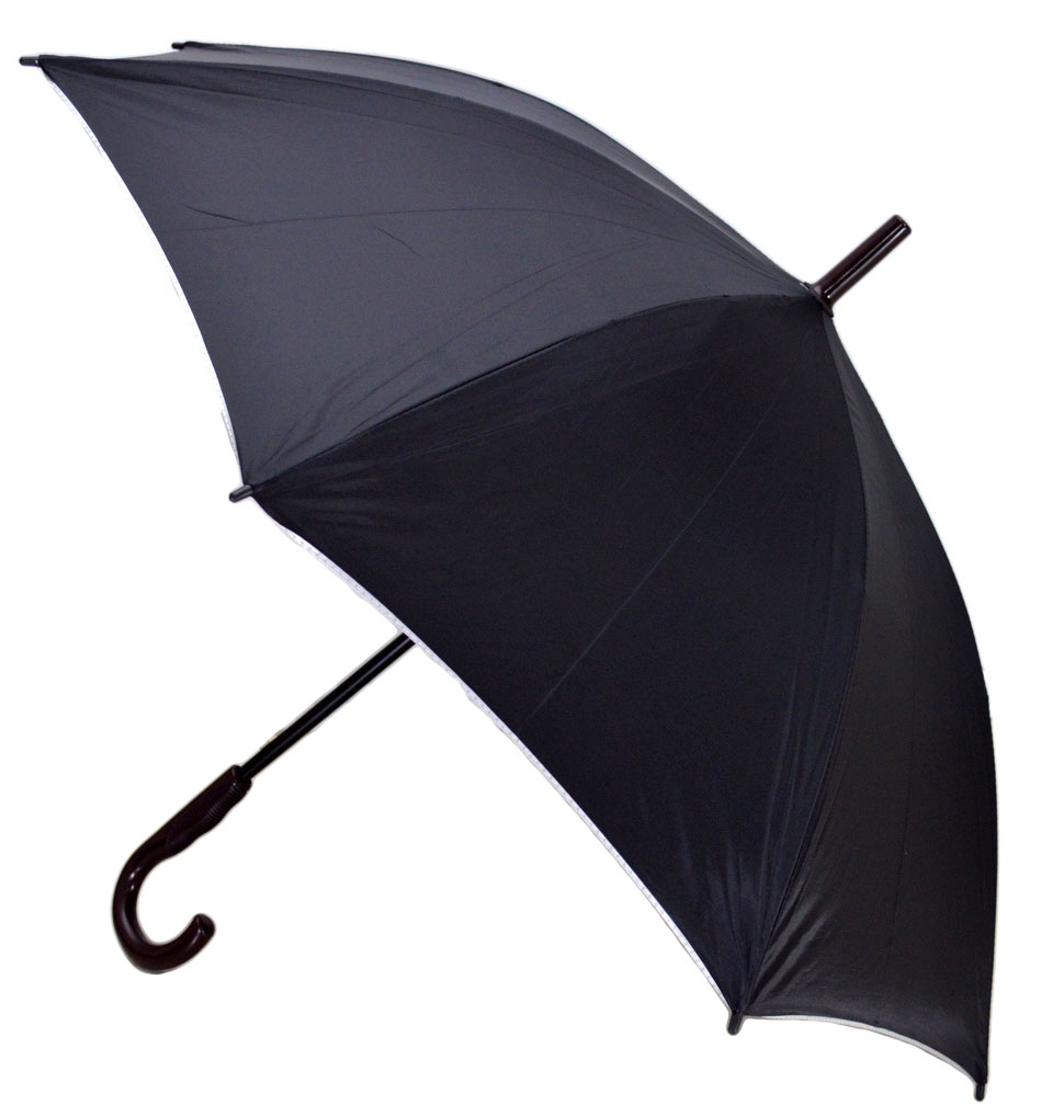 Umbrela Baston ICONIC Automata, Negru cu gri metalizat, Ø110cm, articulatii anti-vant