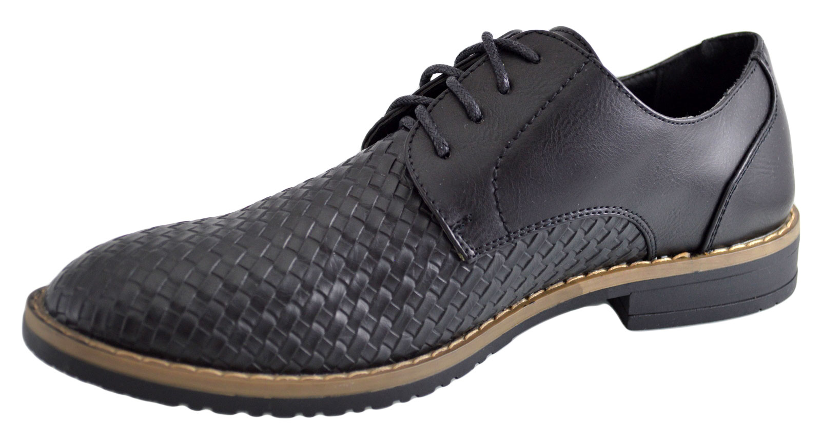 Imagine Pantofi Negri Barbati Model Aligator