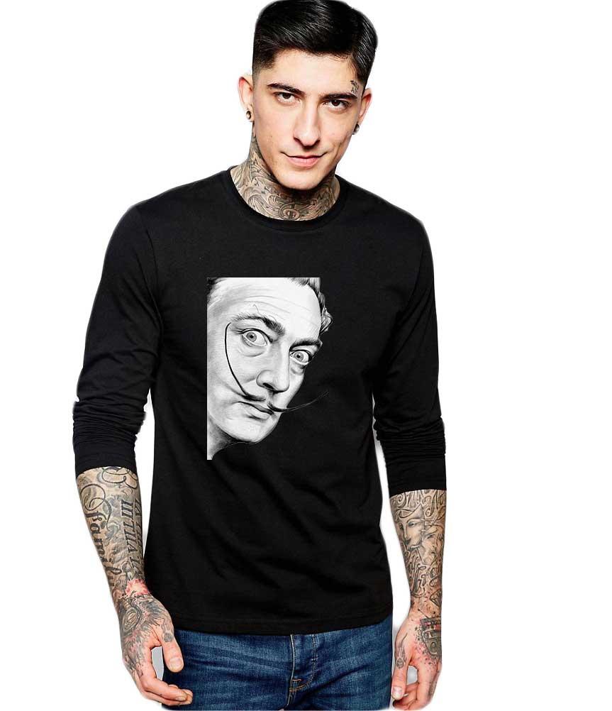 Bluza barbati neagra - Dali - Portret